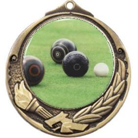 Lawn Bowls Medal M412-C831 - Trophy Land