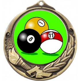 Snooker Medal M412-K129 - Trophy Land