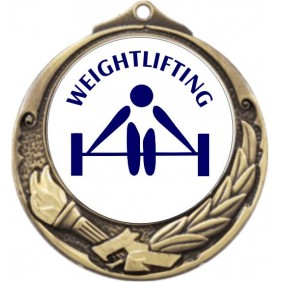 Weightlifting Medal M412-TLWeight - Trophy Land