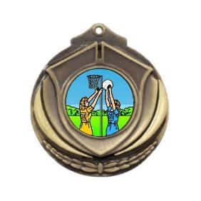 Netball Medal M431-K122 - Trophy Land