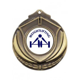 Weightlifting Medal M431-TLWeight - Trophy Land