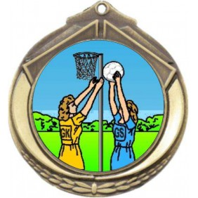 Netball Medal M432-K122 - Trophy Land