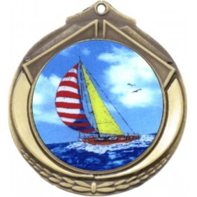 Sailing Medal M432-K147 - Trophy Land