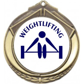 Weightlifting Medal M432-TLWeight - Trophy Land
