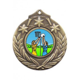 Netball Medal M841-K122 - Trophy Land