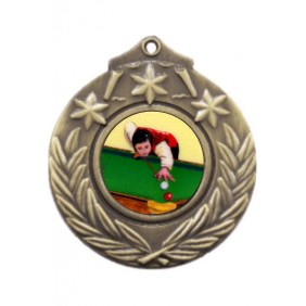 Snooker Medal M841-K130 - Trophy Land