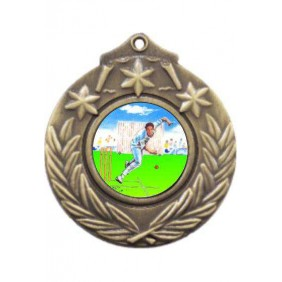 Cricket Medal M841-K49 - Trophy Land
