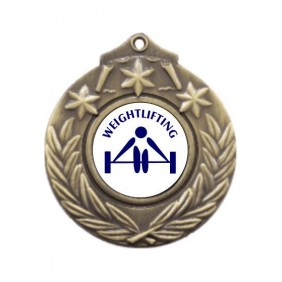 Weightlifting Medal M841-TLWeight - Trophy Land