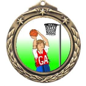 Netball Medal M842-K123 - Trophy Land