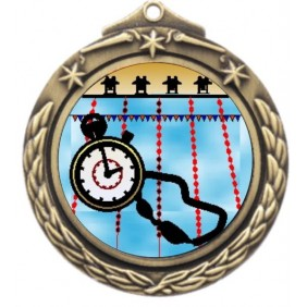 Swimming Medal M842-K165 - Trophy Land
