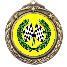 Motorsports Medal M842-K36 - Trophy Land