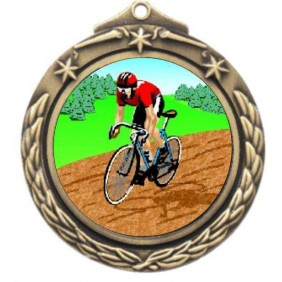 Cycling Medal M842-K55 - Trophy Land