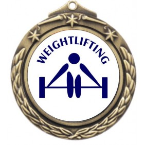 Weightlifting Medal M842-TLWeight - Trophy Land