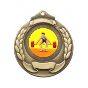 Weightlifting Medal M861-K182 - Trophy Land