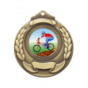 Cycling Medal M861-K54 - Trophy Land