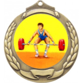 Weightlifting Medal M862-K182 - Trophy Land