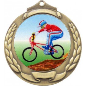 Cycling Medal M862-K54 - Trophy Land