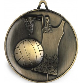 Netball Medal M9311 - Trophy Land