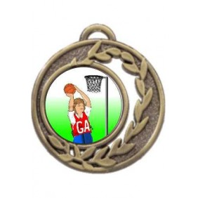 Netball Medal MD465-K123 - Trophy Land