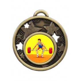 Weightlifting Medal MD466-K182 - Trophy Land