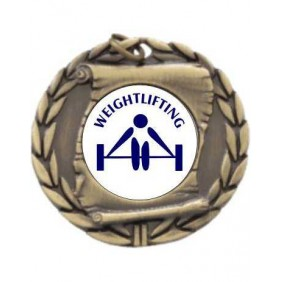Weightlifting Medal MD95-TLWeight - Trophy Land