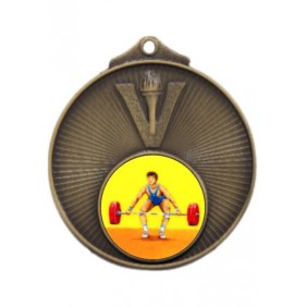 Weightlifting Medal MD950-K182 - Trophy Land