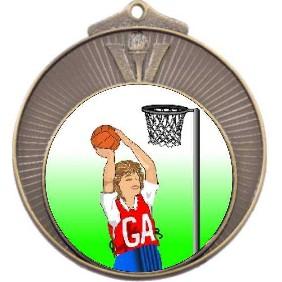 Netball Medal MD970-K123 - Trophy Land