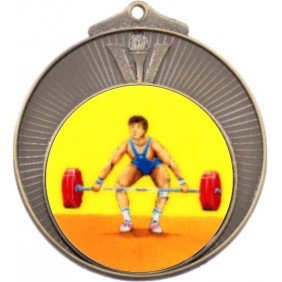 Weightlifting Medal MD970-K182 - Trophy Land
