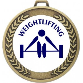Weightlifting Medal MJ50-TLWeight - Trophy Land