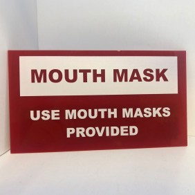 Custom Info Signage Mouth Mask Sign - Trophy Land