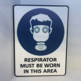 Custom Info Signage Respirator Sign - Trophy Land