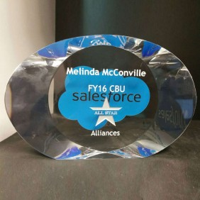 Corporate Awards Gallery Salesforce Award - Trophy Land