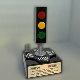 Custom Awards Gallery Traffic Light Trophy - Trophy Land